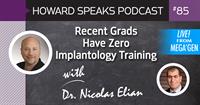 Recent Grads Have Zero Implantology Training with Dr. Nicolas Elian : Howard Speaks Podcast #85