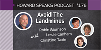 178 Avoid The Landmines with Robin Morrison : Dentistry Uncensored with Howard Farran