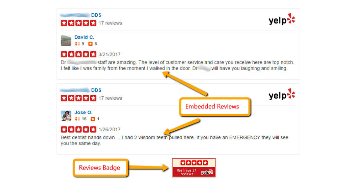 Dentists With A Badge Get More Yelp Reviews