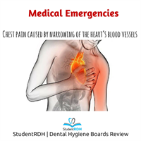 Chest pain caused by narrowing of the heart's blood vessels is?