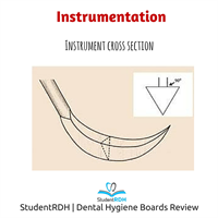 Which instrument type and cross-sectional shape are matched correctly?