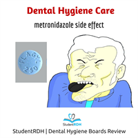 Q: Metronidazole (Flagyl) is related to the following oral side effects, EXCEPT: