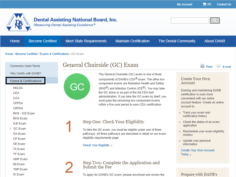 How to pass and register for the danbs gc exam smarterda dental how to pass and register for the danbs gc exam malvernweather Choice Image